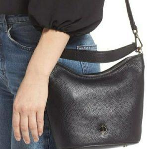Kate spade polly leather crossbody small black
